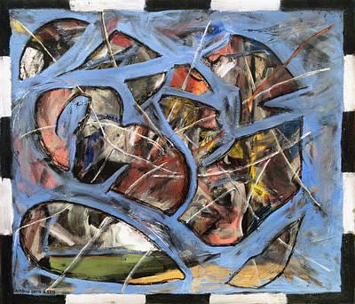 Larry David Painting - Cerebellum Overload by Antonio Ortiz
