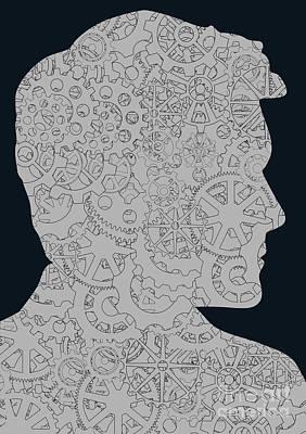 Cerebral Activity In Man Art Print