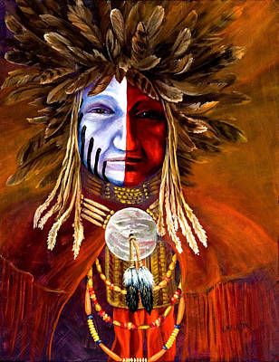 Pow Wow Painting - Ceremonial Paint 1 by Victoria Mauldin