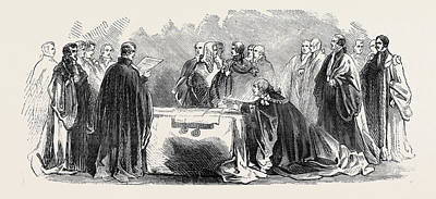 Lord Drawing - Ceremony Of Swearing In The Lord Mayor by English School
