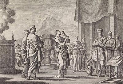Ceremony Which Tests Female Infidelity, Jan Luyken Art Print by Jan Luyken And Pieter Mortier