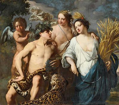 Ceres Bacchus And Venus Art Print by Jan Miel