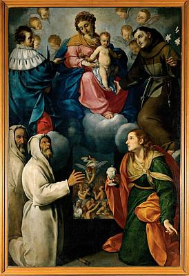 Ceresa Carlo, Madonna And Child With St Art Print