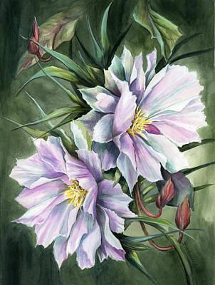 Night Blooming Cereus Painting - Cereus by Sabine Baeckmann