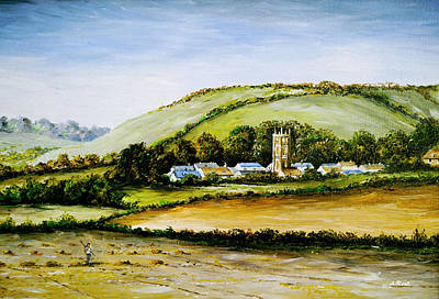 Tourist Attraction Painting - Cerne Abbas  by Andrew Read