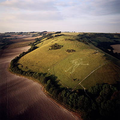 Fertility Symbols Wall Art - Photograph - Cerne Abbas Giant by Skyscan/science Photo Library