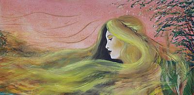 Welsh Goddess Painting - Cerridwen by Stacey Austin