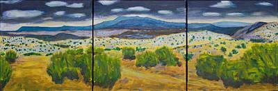 Art Print featuring the painting Cerrillos Spring by John Hansen