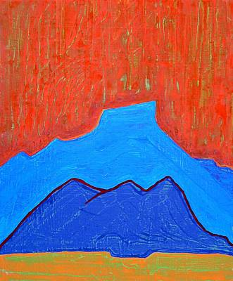 Abiquiu Painting - Cerro Pedernal Original Painting Sold by Sol Luckman