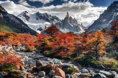 Photograph - Cerro Torre 3 by Roman St