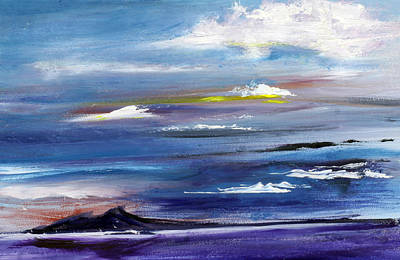 Painting - Cerulean Skies Over The Great Salt Lake by Nila Jane Autry