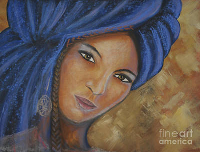 Cerulean Tuareg Art Print by Daniela Abrams