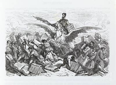 Novel Photograph - Cervantes's Don Quixote, Flight Of Fancy by Middle Temple Library