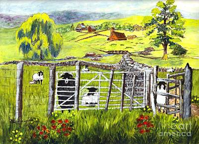 Cervinia Sheep Farm Art Print by Carol Wisniewski