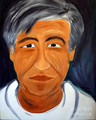 Cesar Chavez Painting - Cesar Chavez by Carlos Alvarado