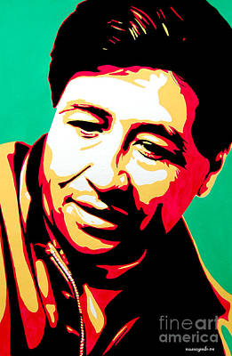 Cesar Chavez Painting - Cesar Chavez by Nancy Mergybrower