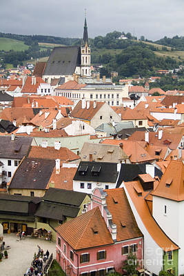 Cesky Krumlov, Czech Republic Art Print by Bill Bachmann