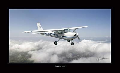 Cessna 152 Art Print by Larry McManus