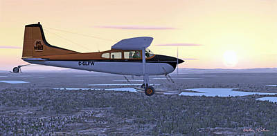 Digital Art - Cessna 185f   by Walter Colvin