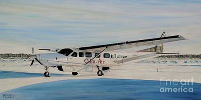 Art Print featuring the painting Cessna 208 Caravan by Marilyn  McNish