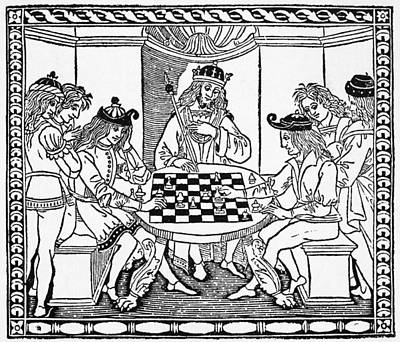Chess Men Painting - Cessolis Chess, 1493-1494 by Granger