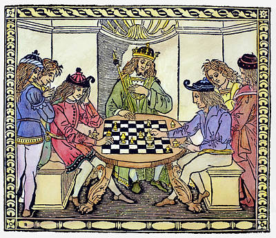 Chess Men Painting - Cessolis Chess, 1493-94 by Granger