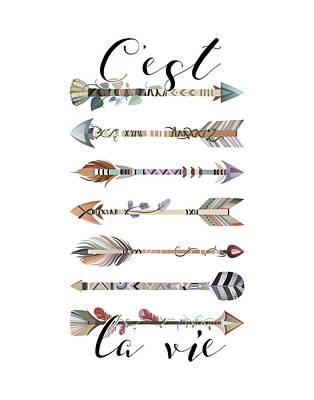 Signed . Nature Painting - C'est La Vie Arrows by Tara Moss