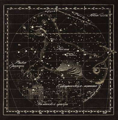 Cetus Constellations, 1829 Art Print by Science Photo Library