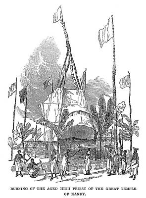 Pyre Painting - Ceylon Funeral, 1850 by Granger