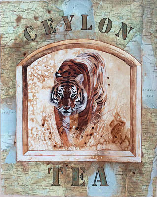 Signed Poster Painting - Ceylon Tea by P.s. Art Studios