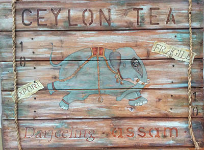 Signed Poster Painting - Ceylong Tea by P.s. Art Studios