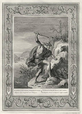 Kingfisher Drawing - Ceyx, King Of Trachis, Drowns  At Sea by Mary Evans Picture Library