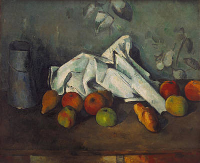 Milk Can Painting - Cezanne Apples, C1879 by Granger
