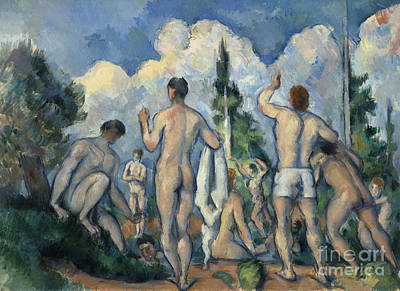 Painting - Cezanne Bathers C1890 by Granger