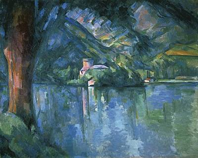 Impressionist Photograph - Cezanne, Paul 1839-1906. Lake Annecy by Everett