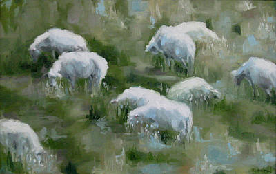 Painting - Cezanne Sheep by Erin Rickelton
