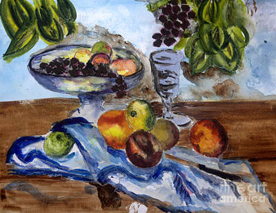 Still Life Painting - Cezanne Still Life Composition by Donna Walsh
