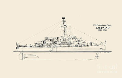 World War 2 Drawing - C G C  Eastwind by Jerry McElroy - Public Domain Image