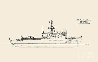Uscg Drawing - C G C  Legare by Jerry McElroy - Public Domain Image
