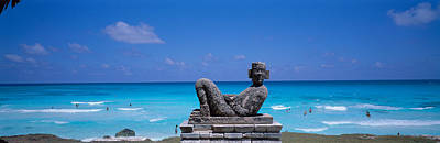 Cancun Photograph - Chac Mool Altar, Cancun, Mexico by Panoramic Images
