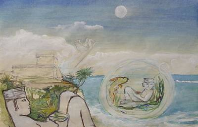 Painting - Chacmool Dream Of Tulum by Terri Ana Stokes
