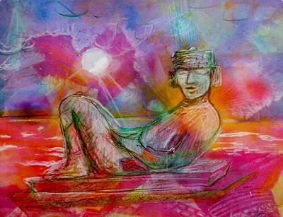 Chacmool Of Tulum Art Print