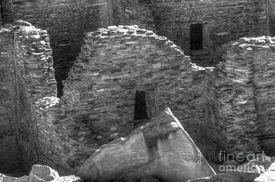 Photograph - Chaco Canyon Pueblo Bonito Detail by Bob Christopher