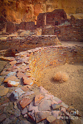 Kiva Photograph - Chaco Ruins #1 by Inge Johnsson