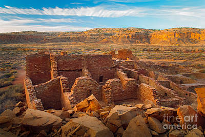 Kiva Photograph - Chaco Ruins Number 2 by Inge Johnsson