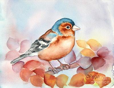 Painting - Chaffinch 2 by Inese Poga