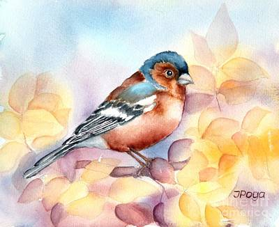 Painting - Chaffinch 3 by Inese Poga