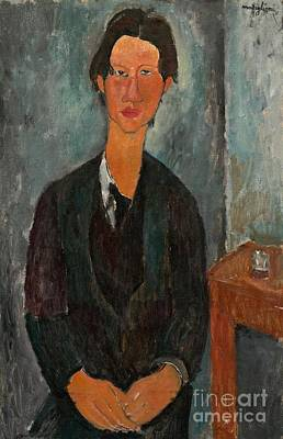Dark Eyes Painting - Chaim Soutine by Amedeo Modigliani