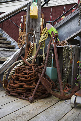 Chain And Anchor Art Print by Betsy Knapp