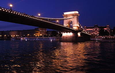 Photograph - Chain Bridge At Night by Caroline Stella